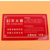 Road Safety Fire Extinguisher Custom Luminous Warning Sign On The Wall