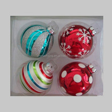 2015 High Quality custom hand painted christmas ball ornament for sale