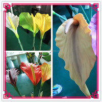 artificial flowers in acrylic water,calla lily glass flowers,flowers in artificial water