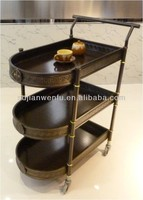 2015 new design restaurant tea food serving trolley #302