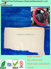 High strength silicon rubber for car steering wheel cover