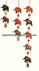 Five elephant,Indian (Rajasthani) Handicrafts,Wall hanging/door hanging strings