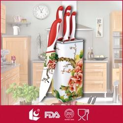 2015 wholesale 5pcs non-stick coating kitchen knife set