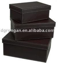 large capacity leather storage box/storeage compartment