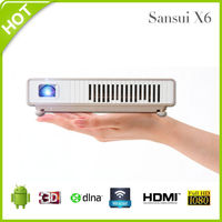 Sansui X6 Portable Wireless Mini WIFI Multimedia HD DLP LED Projector Home Cinema Theater for Tablet Smart Phone PC