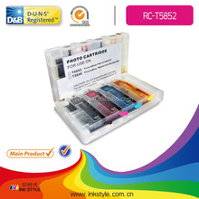 refillable ink cartridge for epson ink cartridge for epson t5852 with auto reset chip