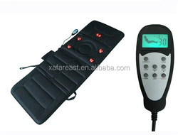 Electric Infrared Heat and 10 Motors Vibrating Massage Mat with LCD Controller