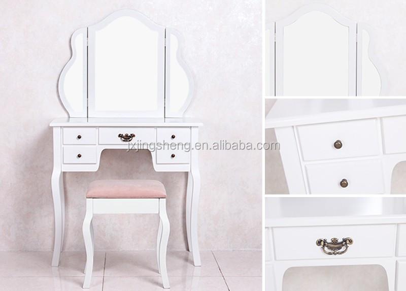 공장 공급 침실 가구 세면대 메이크업 드레서 테이블 서랍 흰색 ...