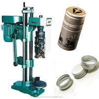 manual glass bottle aluminum screw capping machine