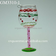Cheap goblet hanging glass for decoration