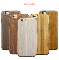 Wood Pattern Soft Phone Case For iPhone 6 / 6s