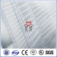 16mm/18mm/25mm triple wall plastic polycarbonate hollow honeycomb sheet