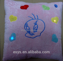 Animal shape led children pillow with best price with led sound chip