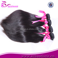 Mongolian straight sew in human hair extensions blonde