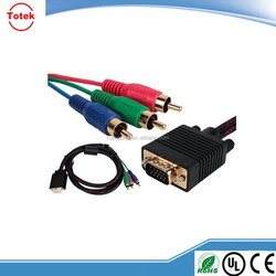 high quality male to female vga to rca cable