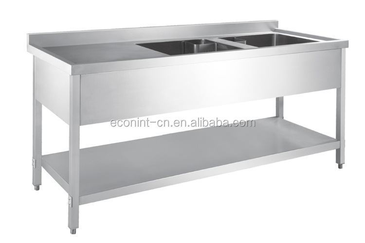 Used Stainless Sink : stainless steel washing work table with sink,used kitchen stainless ...