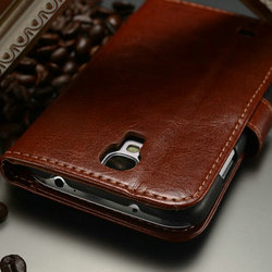 Wallet Stand Mobile Phone Accessories Factory In China for Samsung Galaxy S4