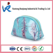 Beauty PVC Cosmetic Bag, Make Up Bag, Toiletry Bag With Fabric Zipper
