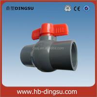 Free Sample China Pipe Fittings Pvc Ball Valve Astm Plastic Pvc Ball Valve