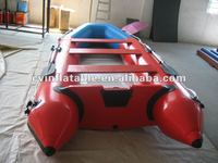 inflatable aluminum floor boat/swift large inflatable pedal boat/inflatable 2.5p motor boat on sale