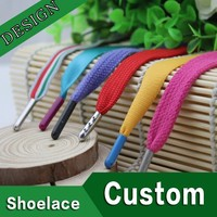 3m metal tip aglets manufacturing flat colored custom wholesale shoe laces
