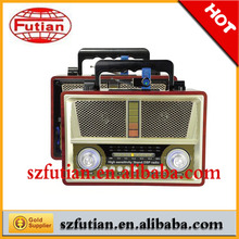 Retro radio FM/AM/SW Receiver with LED flash audio , with USB /SD slot,with recorder
