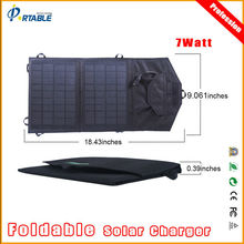 7W New Hot 2 foldings waterproof portable backpack solar recharger for camping