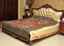 2015 Peacock pattern thread blanket/jacquard thread blanket/chinese thread blanket