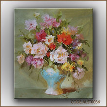Delicate and charming of Canvas art oil flower painting china manufacturer