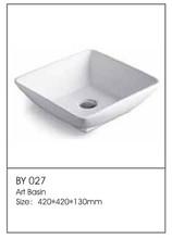 BY027 Hot Sale Bathroom Pedestal Sinks China Taps Bathroom Supplier Double Sink Bathroom Factory