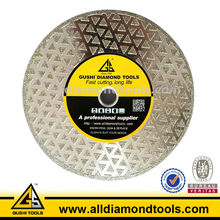 Single or Double Starry Type Electroplated Diamond Saw Blade for Marble Granite