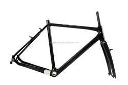 EMS Wholesale UD Carbon Matte Finish Bike Frame Super Light 3K/UD/12K Disc Cyclocross Inner Cable Weight Road Carbon Frame