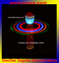 Top selling christmas led flashing spin ball stick party supplies