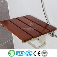 Wall mounted folding Sauna spa washroom shower wooden chair