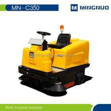 concrete floor Carbon brushes cleanning machine