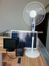 low cost 60w solar power system solar power tv and fan for small homes