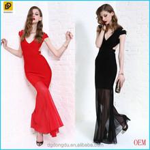 2016 Sexy V-neck Backless Fishtail Evening Dress