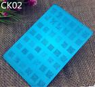 2015 mais novo custom prego placas de imagem com 22 tipos de projetos nail art stamping prata imagem