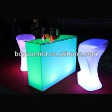 Illuminated led furniture hot sale led table cocktail chair ktv bar table