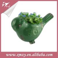 green Bird Animal Shape Mini Flower Pot