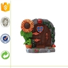 Decoratived hot sale Sunflower Ahead Polyresin Fairy Door For Promotion