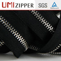 UMI silver paint continuous long chain metal teeth zipper roll
