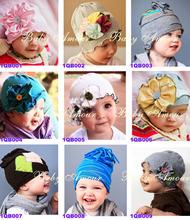 Christmas Lovely Soft Little Baby Winter Headgears Toddler Flower Caps Children Princess Hat Warm Crochet Kids Headwear