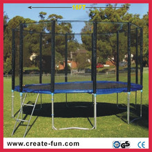 CreateFun 5-16ft factory quality round outdoor kids large round trampoline with ladder
