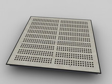 Anti-static data center perforated access floor tile with HPL surface