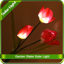 Garden Solar Powered LED Color Changing Flower Tulip Light