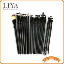 20 piece black handle Cosmetics brush set for make up