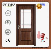 half glass interior wood doors