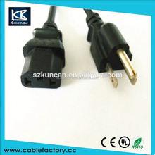 KUNCAN PVC power cable 3 pin power line125v