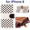 China supplier Hollow Design Protective flip leather case for Iphone 6